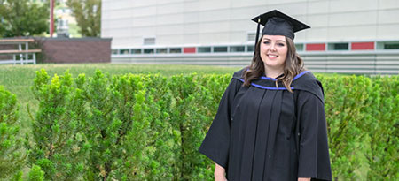 Carlee Mills, student reader for the Bachelor of Arts ceremony for FCCS students.