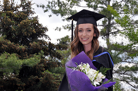 Dana Klamut graduated on June 7 with degrees in math and computer science (honours).