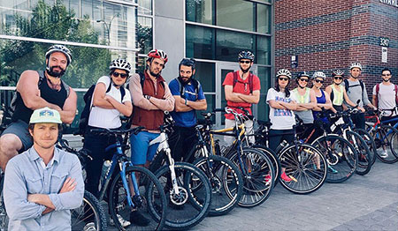UBC Copanagan was made up of 19 cyclists on campus, ranging from student services staff, to FCCS faculty and IKBSAS grad students.