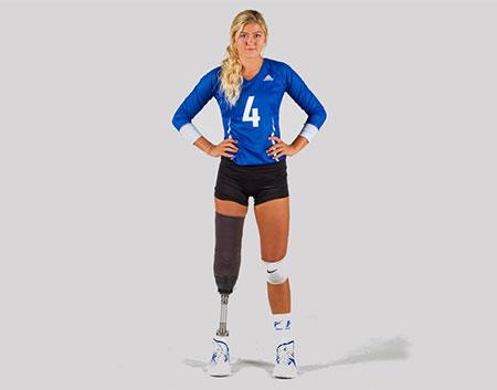 Heat volleyball player Jennifer Oakes. Photo: usports.ca
