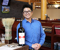 Edwin Chu, general manager of Grizzli Winery.