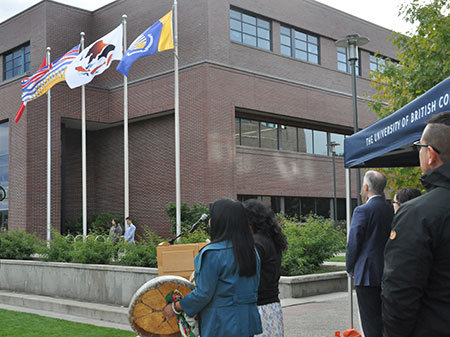 On Thursday last week the Syilx Okanagan Nation flag was raised and given permanent recognition as the host nation in whose lands the university resides.