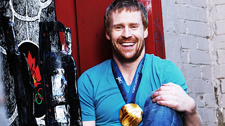 Jon Montgomery, who won a gold medal in men's skeleton at the Vancouver Olympics, is speaking at Nourish, this Saturday at UBC Okanagan.