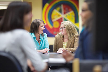 A photo of UBC employees Rachelle Hole and Earllene Roberts