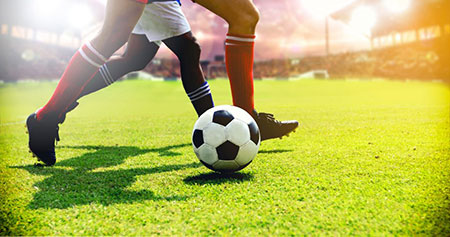 The study shows that repetitive impacts of a soccer ball on a player's head could cause damage to the cells of the nervous system. Credit: Shutterstock