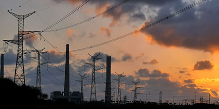 A beautiful photo of power lines