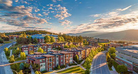 UBCO currently has space for 1,680 students to live on campus which allows it to meet its guarantee to provide student housing to every first-year student.
