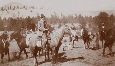 An image of Franz Ferdinand visiting the Okanagan in 1893