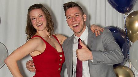 Heat awards banquet emcees Sophia Furlan and Denham O'Reilly.