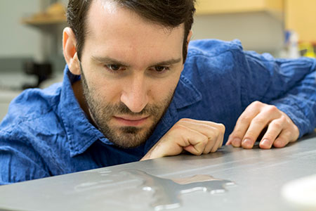 Kevin Golovin, assistant professor of engineering, says ice buildup may become a thing of the past.