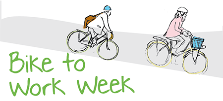 An illustration of two cyclists