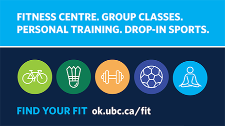 UBC Okanagan Rec fitness classes graphic