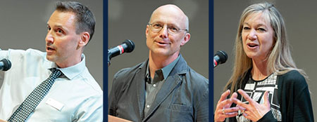 This year's Teaching Excellence and Innovation Award winners include Jonathan Holzman, professor of engineering, Andis Klegeris, professor of biology, and Sally Willis-Stewart, senior instructor of health and exercise sciences.