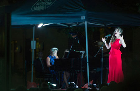 Image of performers from last year's Opera Under the Stars