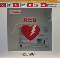 Photo of on-campus Automated External Defibrillators case