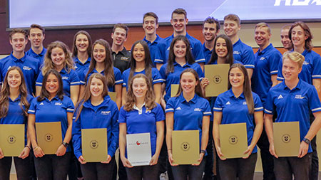Heat student athletes who accomplish a high academic record while playing on varsity teams were recently recognized at a special event.