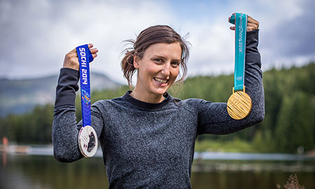 Olympic champion and fourth-year human kinetics student Kelsey Serwa.
