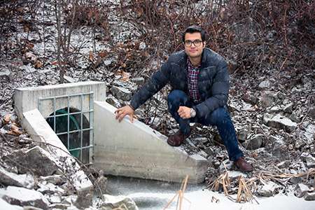 Doctoral student Saeed Mohammadiun says many urban drainage and stormwater systems are not designed well enough to handle extreme weather conditions.