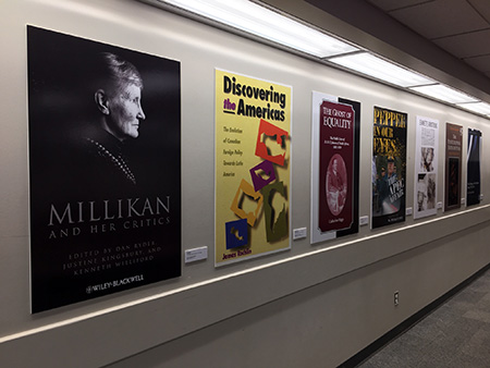 Image of the book cover project in ART building classrooms
