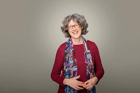 Nancy Holmes, poet and associate professor.