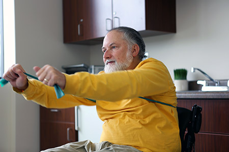 With gyms, recreation centres and sports programs closed due to COVID-19, people living with disabilities are looking for creative ways to stay active at home.