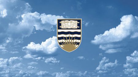 UBC crest and clouds