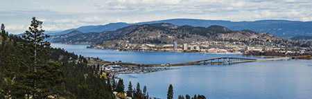 A view from the peak of somewhere in West Kelowna