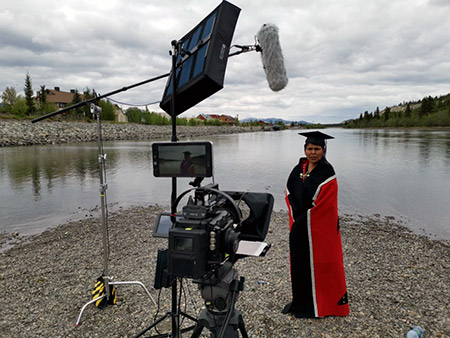 UBC Okanagan student speaker Barb Dawson.