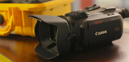 Photo of a video camera