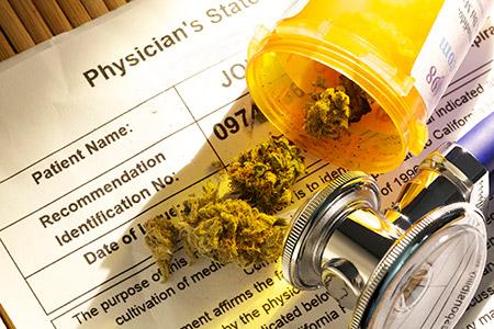 A photo of medicinal cannabis