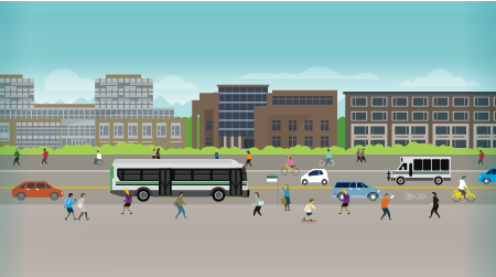 Campus Planning transportation illustration