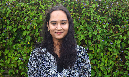 Originally from Bangalore, India, undergraduate student Laavanya Prakash knew she wanted to attend an international university that would give her a sense of comfort.