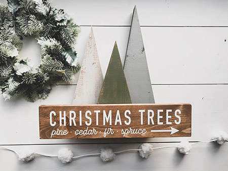 DIY winter sign image