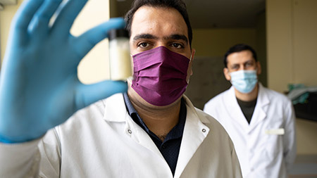 School of Engineering researchers Farhad Ahmadijokani and Mohammad Arjmand have developed a cost-effective material that can help remove toxic chemicals, like cancer-treatment drugs, from water supplies.