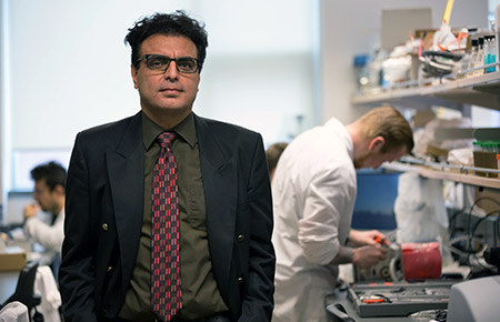 Associate Professor Hadi Mohammadi is the lead researcher at UBCO's Heart Valve Performance Lab.