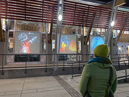 Celestial Bodies: Four Stories of the Night Sky, projections will be shown at the Rotary Centre for the Arts until February 28.