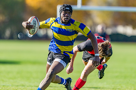 UBC Okanagan Heat men's rugby team was one of the fundraising projects for Giving Day.