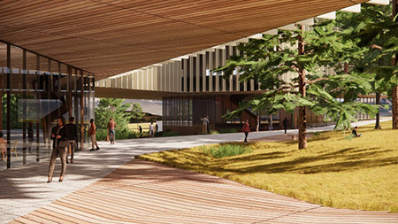 Rendering of the Interdisciplinary Collaboration Innovation (ICI) building