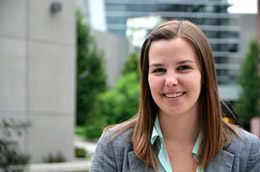 Anthropology student Robyn Giffen won a top oral presentation prize at the U21 Conference in Amsterdam.