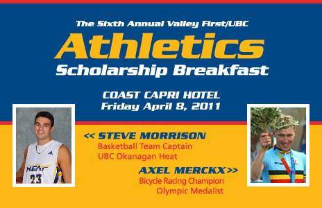 Olympic cyclist Axel Merckx at Valley First UBC Athletics Scholarship Breakfast April 8