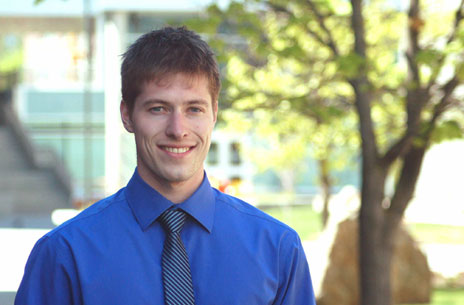 Human Kinetics student Paul Sharp, BC Parks and Recreation Association scholarship recipient.